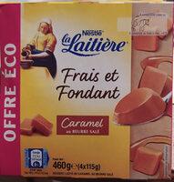 La Laitière Frais et Fondant Caramel au beurre salé 4 x 115 g - Product - fr