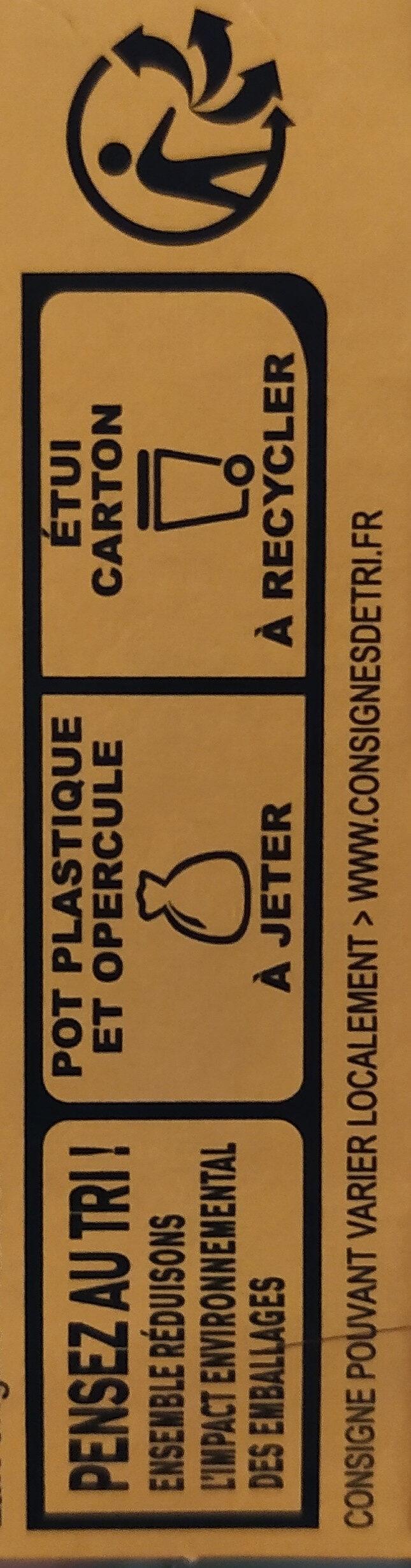 La Laitière Frais et Fondant Caramel au beurre salé 4 x 115 g - Recyclinginstructies en / of verpakkingsinformatie - fr