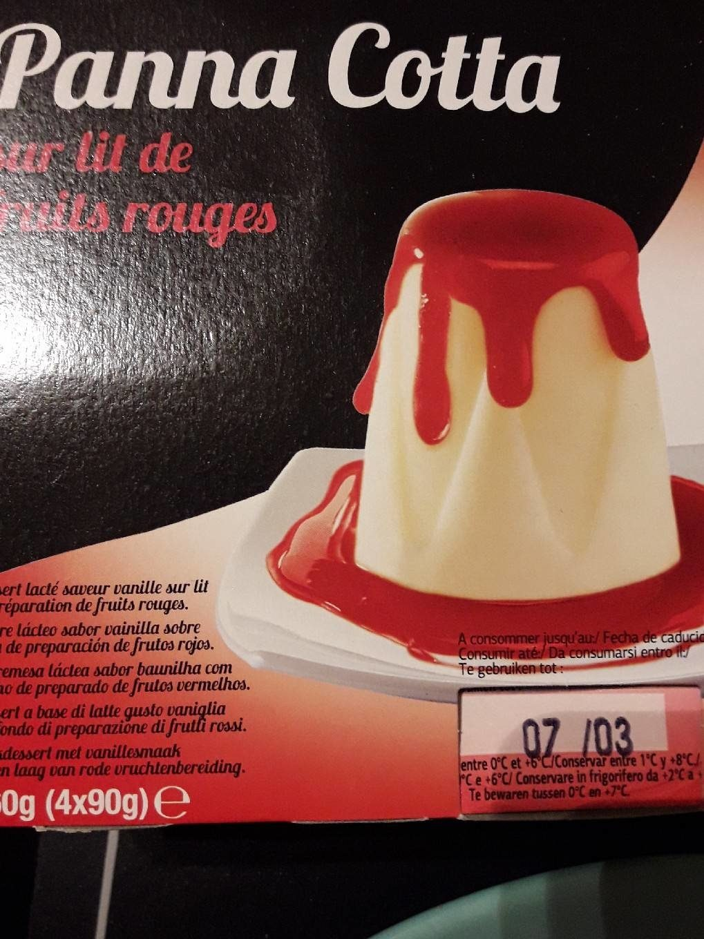 Panna Cotta Fruits rouges - Product - fr