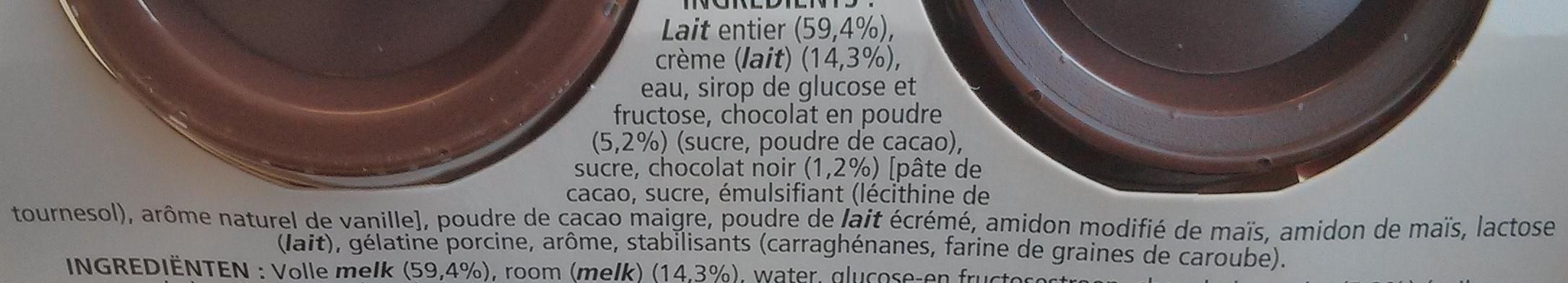 Le Viennois chocolat - Ingrediënten