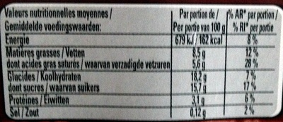 Le Viennois Chocolat (Offre Eco) - Nutrition facts