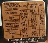 Mousse de chocolate con finas y crujientes láminas de cacao - Informació nutricional - es
