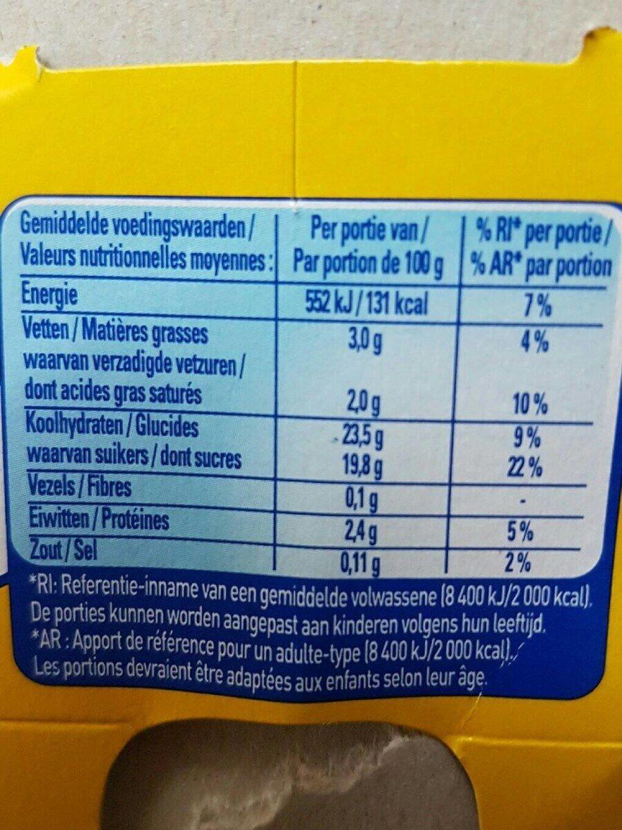 Flan caramel - Voedingswaarden
