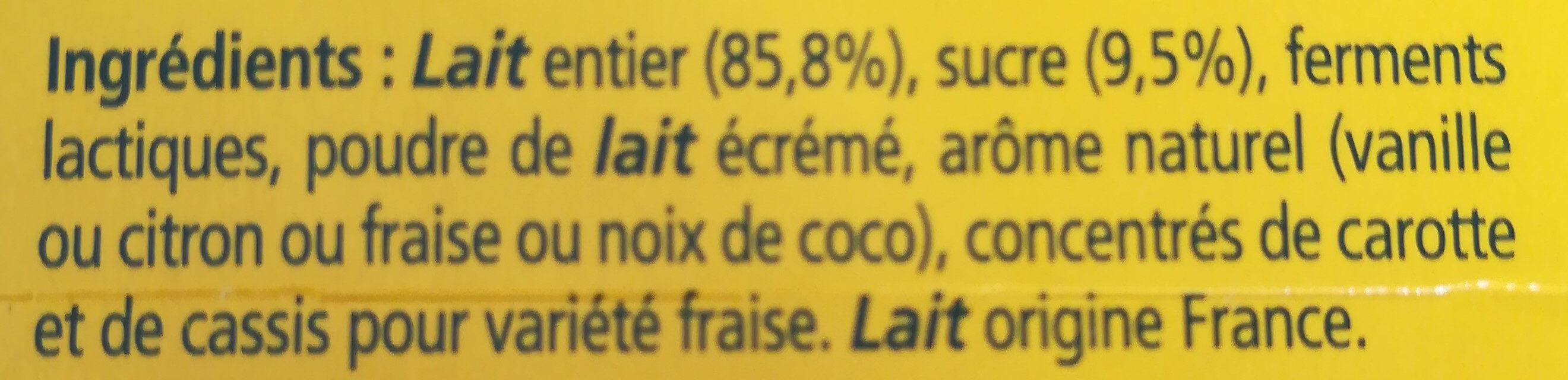 Le Yaourt Panaché - Ingrédients - fr