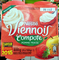 Le Viennois (Compote Pomme Fraise) - Product - fr