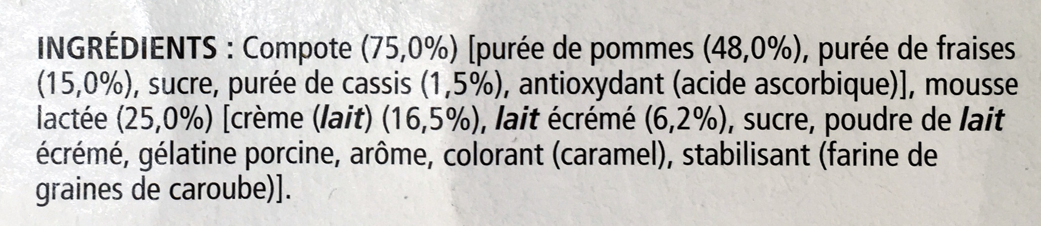 Le Viennois (Compote Pomme Fraise) - Ingredients