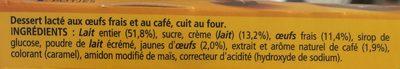 Le Petit Pot de Crème au Café (4 Pots) - Ingrédients - fr
