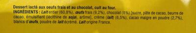 La Laitière Petit pot de crème chocolat - Ingrédients - fr