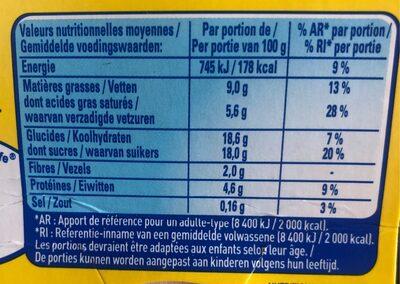 La Laitière Petit pot de crème chocolat - Informations nutritionnelles - fr