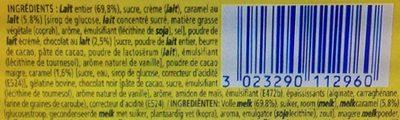La Laitière Secret de Mousse Duo Chocolat au Lait Caramel - Ingredients