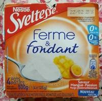 Sveltesse Ferme & Fondant saveur mangue-Passion - Produit