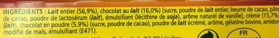 La Laitière Velours de Crème saveur Chocolat Noisette - Ingrédients - fr