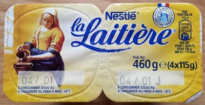 Desserts semoule au lait nature La Laitière - Produit - fr