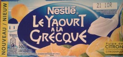 Le Yaourt à la Grecque (à la pulpe de citron) - Product - fr