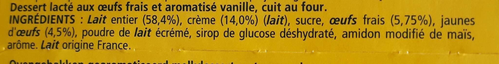 Le Petit Pot de Crème Saveur Vanille - Ingrediënten