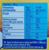 Petit Pot de Crème Saveur Vanille (4 x 100 g) - Informations nutritionnelles - fr