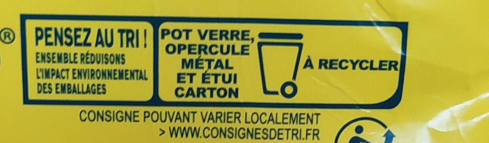 Petit Pot de Crème Saveur Vanille (4 x 100 g) - Instruction de recyclage et/ou informations d'emballage - fr
