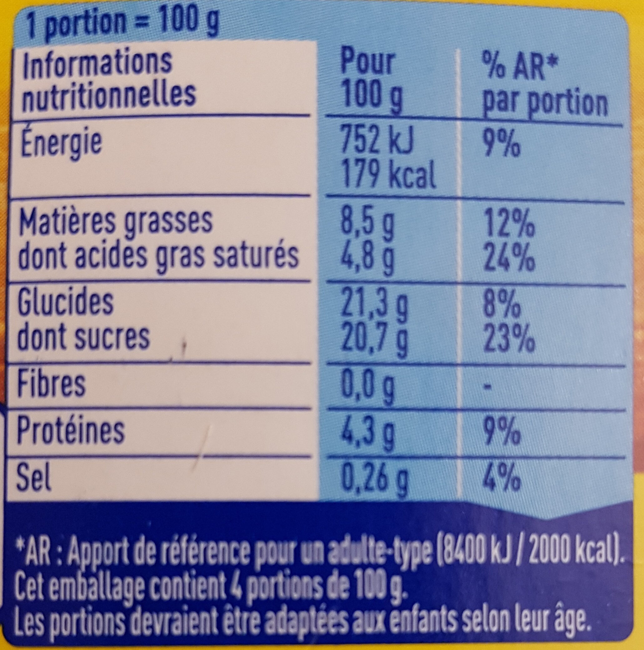 Le Petit Pot de Crème au Caramel (Offre Découverte) - Informations nutritionnelles - fr