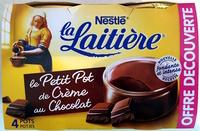 La Laitière le Petit Pot de Crème au Chocolat - Product - fr
