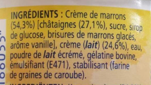 L'Original MaronSui's - Ingredients