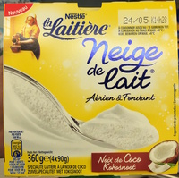 Neige de lait, Noix de Coco (4 Pots) - Produit