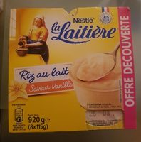Riz au lait vanille La Laitière 8x115g offre découverte - Product - fr