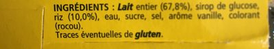 Riz au lait vanille La Laitière 8x115g offre découverte - Ingredients - fr