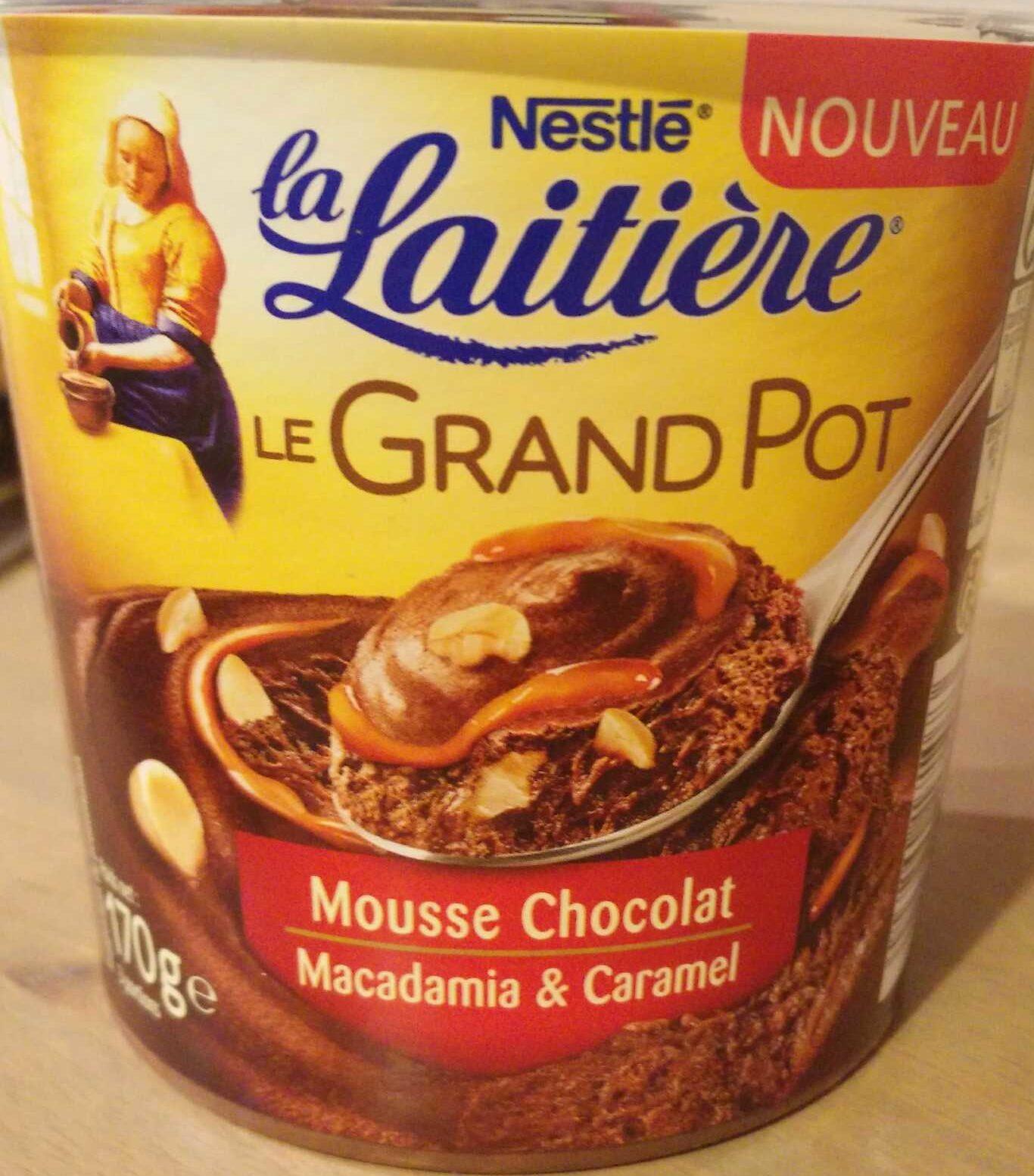 Le Grand Pot Mousse Chocolat, Macadamia & Caramel - Product - fr