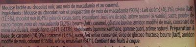 Le Grand Pot Mousse Chocolat, Macadamia & Caramel - Ingrediënten - fr
