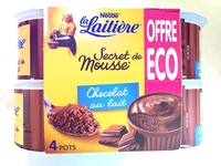 Secret de Mousse Chocolat au lait (4 Pots) Offre Eco - Product