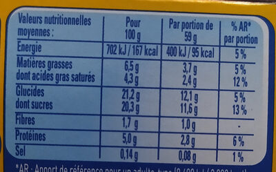 Secret de Mousse Chocolat au lait (4 Pots) Offre Eco - Nutrition facts