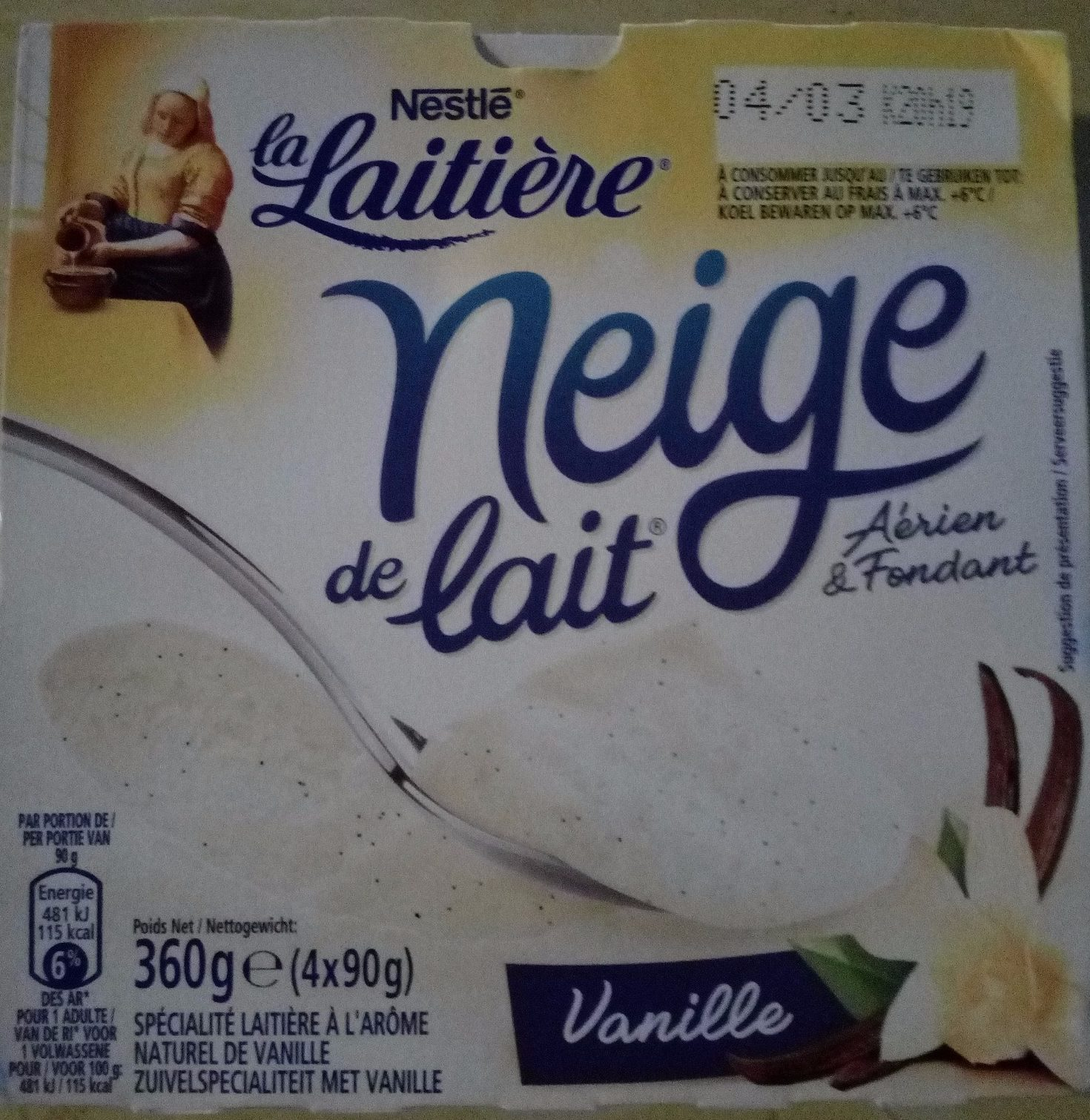 La Laitière Neige de Lait Vanille - Product