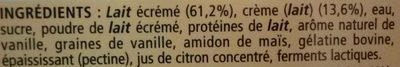 La Laitière Neige de Lait Vanille - Ingrediënten