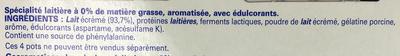 Sveltesse Ferme & Fondant saveur Mûre-Myrtille - Ingrediënten