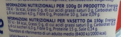 Be Active - Yogurt alla Greca - Informations nutritionnelles
