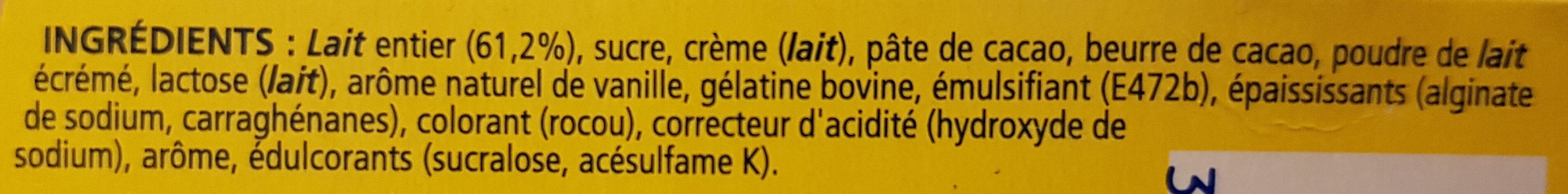 Feuilleté de Mousse Vanille - Ingrédients - fr