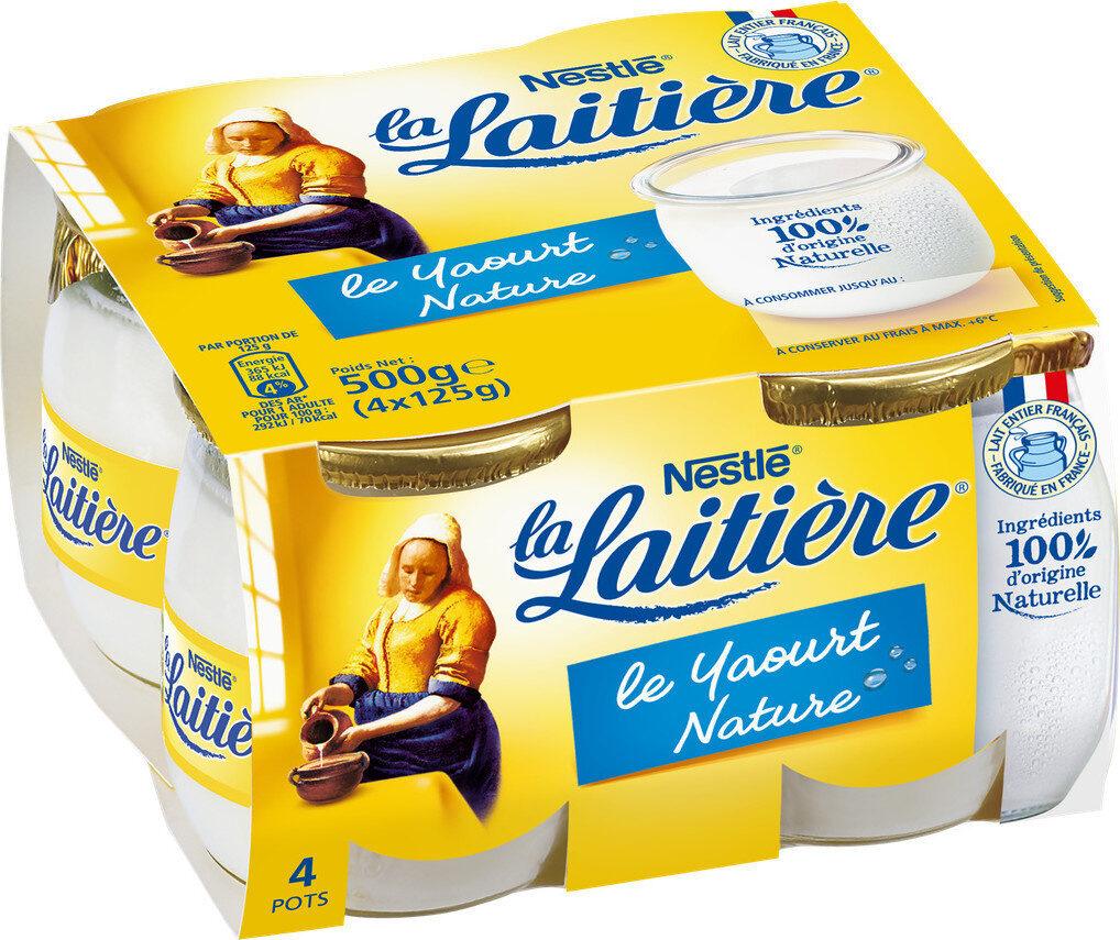 La Laitière yaourt au lait entier nature - Prodotto - fr
