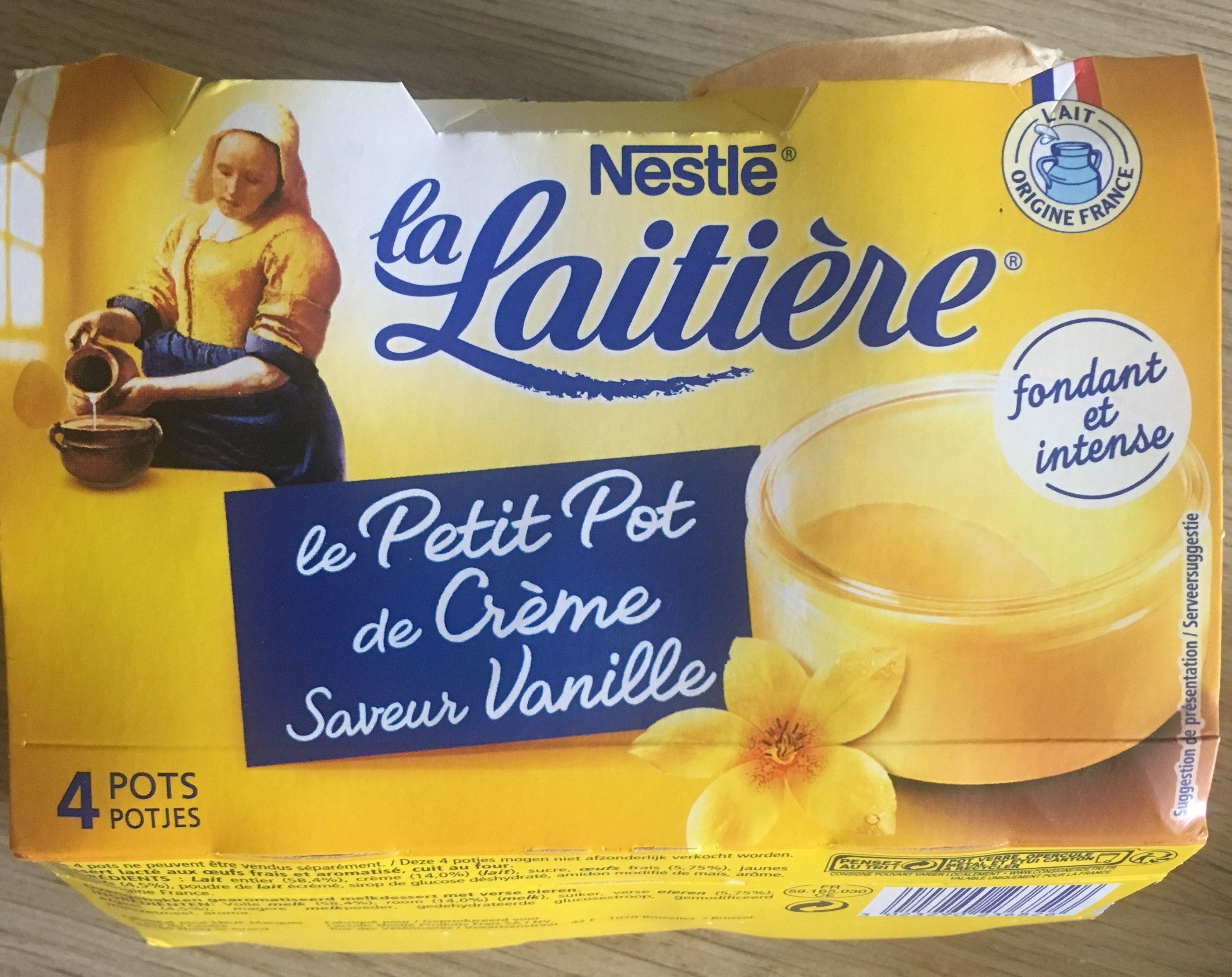 Petit pot de crème saveur vanille - Produit