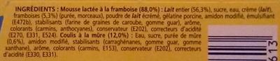 Secret de Mousse Framboise Sauce Mûre (4 Pots) - Ingredients - fr