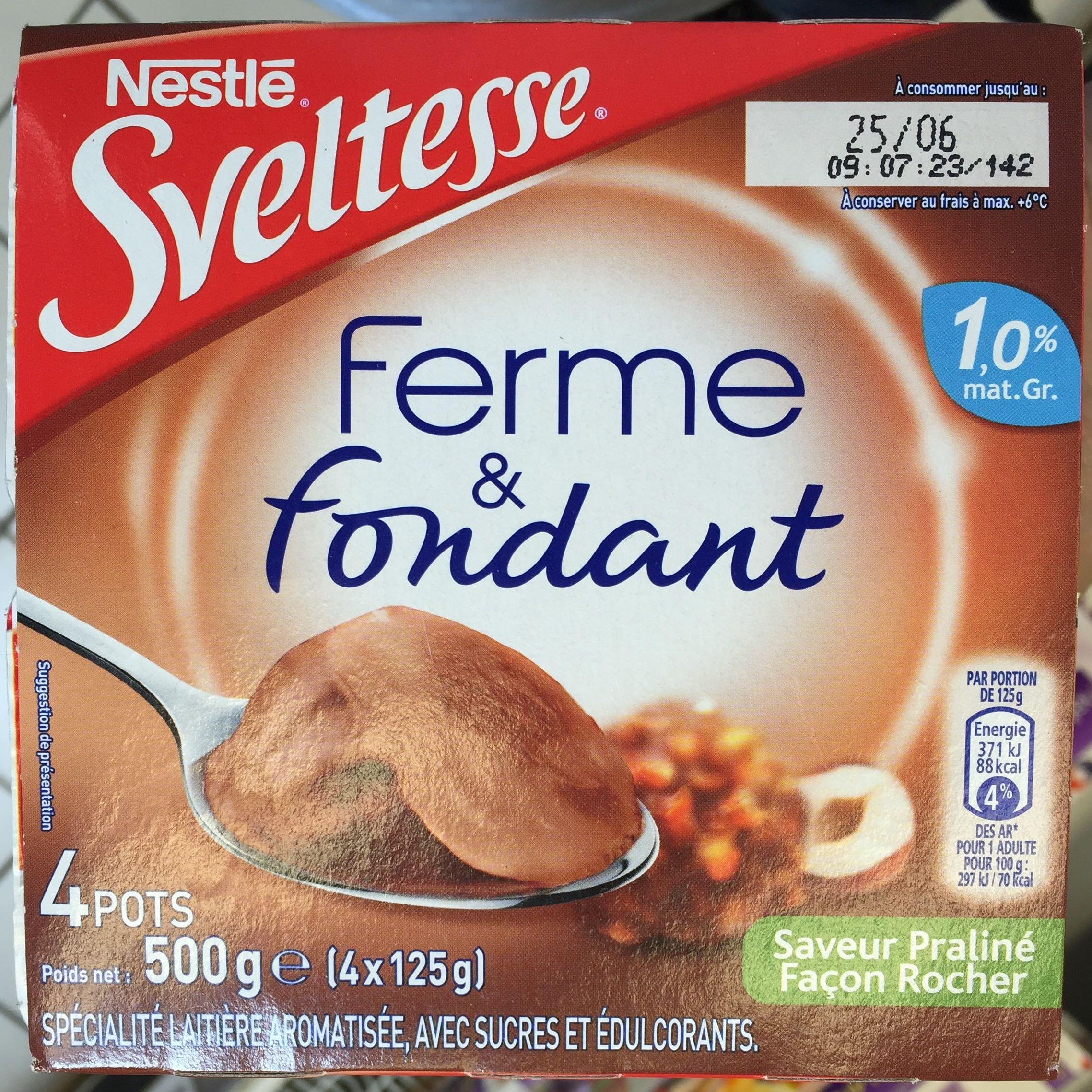 Ferme & Fondant Saveur Praliné Façon Rocher - Product