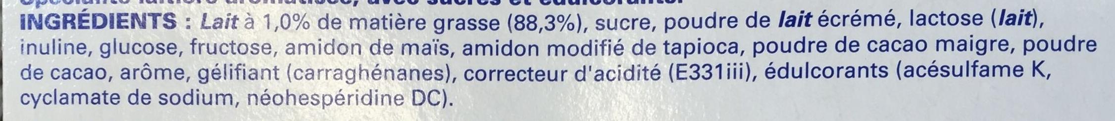 Ferme & Fondant Saveur Praliné Façon Rocher - Ingrediënten