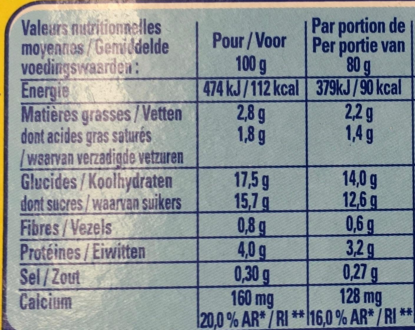 Nesquik Go!! - Informations nutritionnelles - fr
