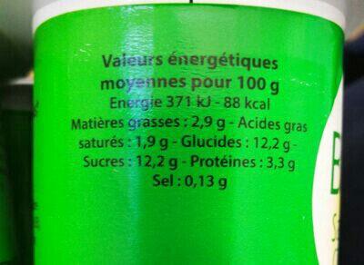 Bifidus Saveur Citron - Ingredientes