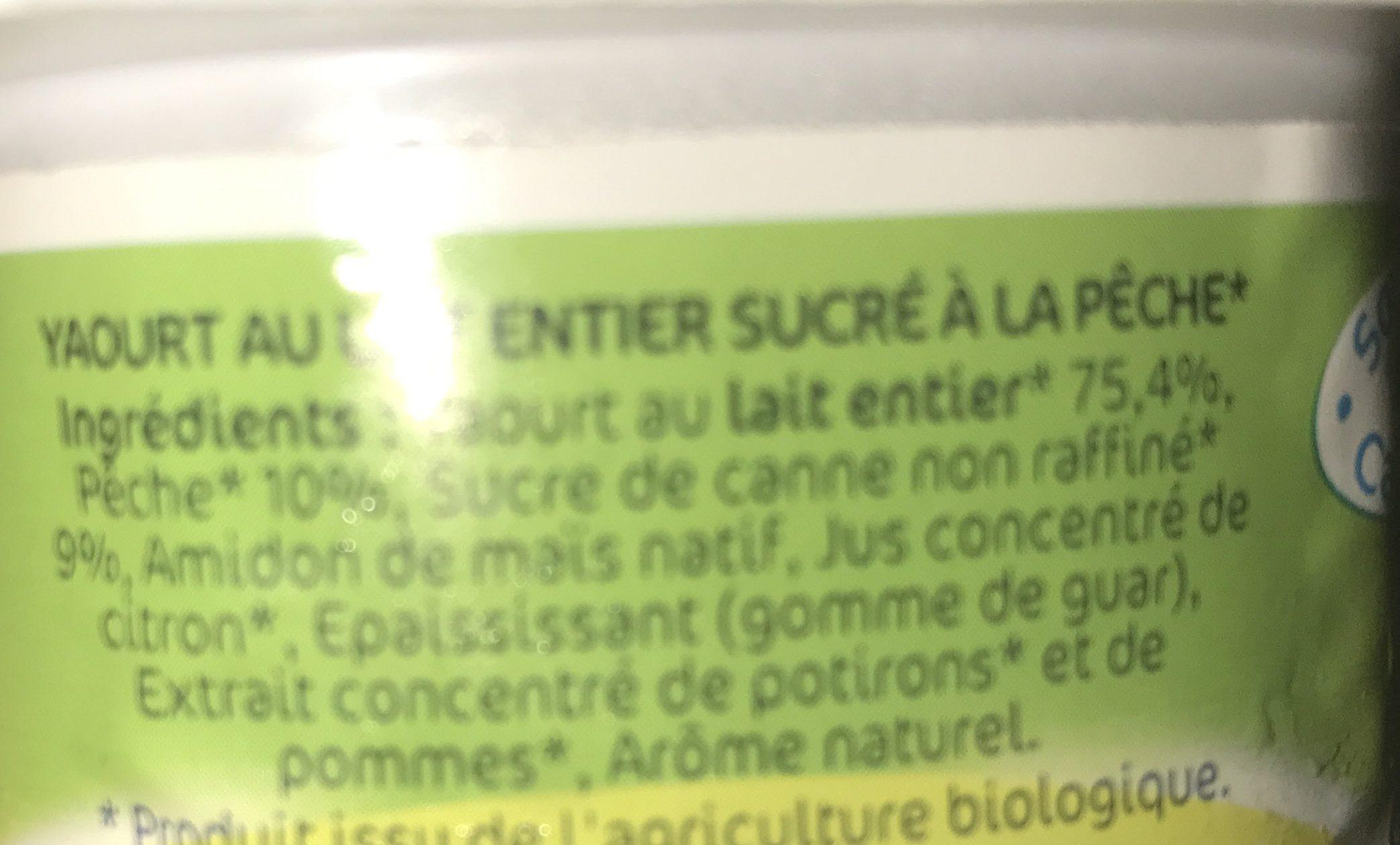 Yaourt aux Fruits Lactel Bio Pêche - Ingrediënten