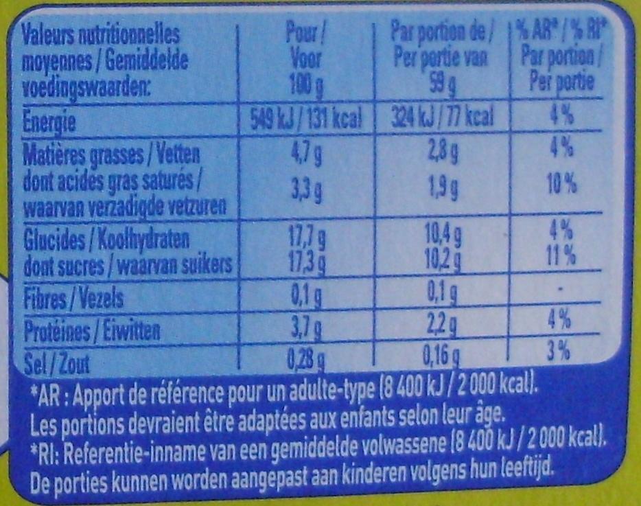 Secret de Mousse Citron - Nutrition facts - fr