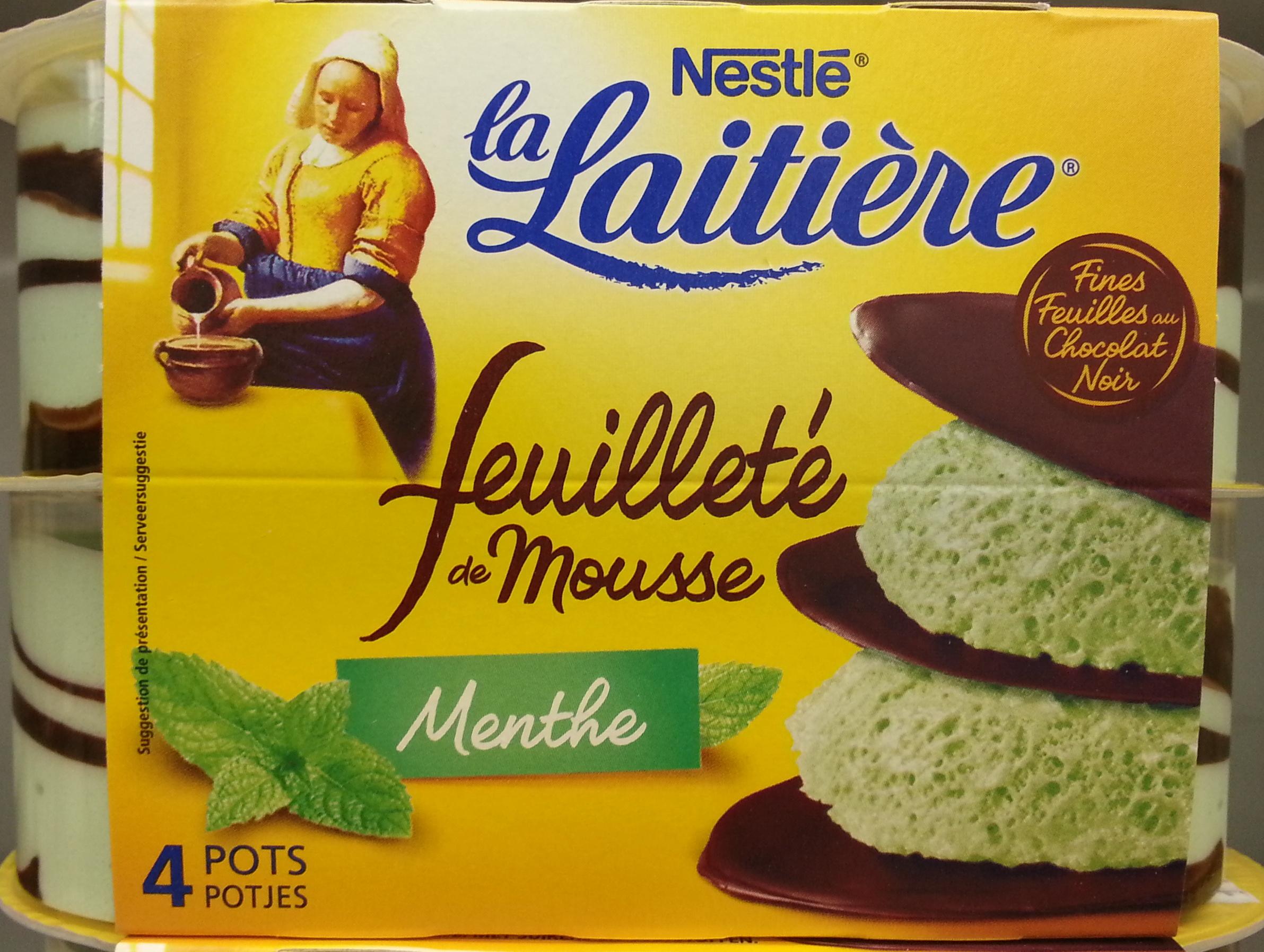 Feuilleté de Mousse Menthe (4 Pots) - Product