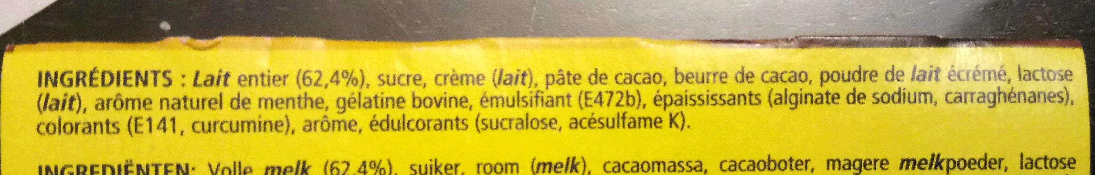 Feuilleté de Mousse Menthe - Ingredients - fr