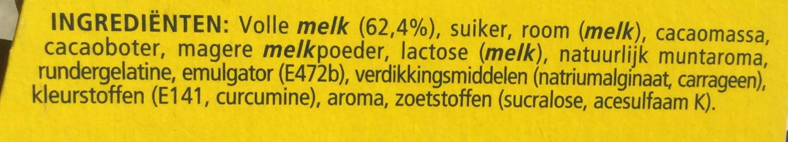 Feuilleté de Mousse Menthe - Ingrediënten - nl