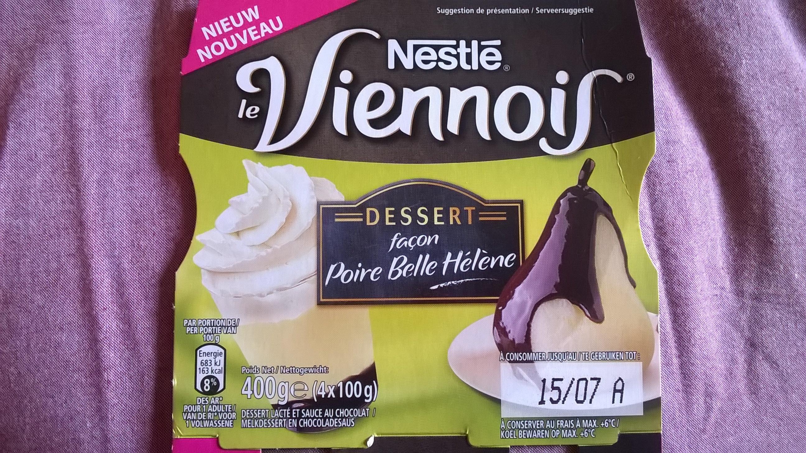Le Viennois dessert façon Poire Belle Hélène - Nestlé