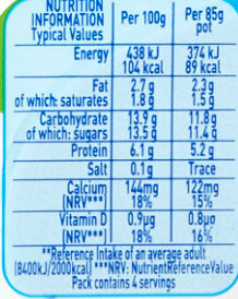 Munch Bunch Double Up Strawberry and Banana - Nutrition facts
